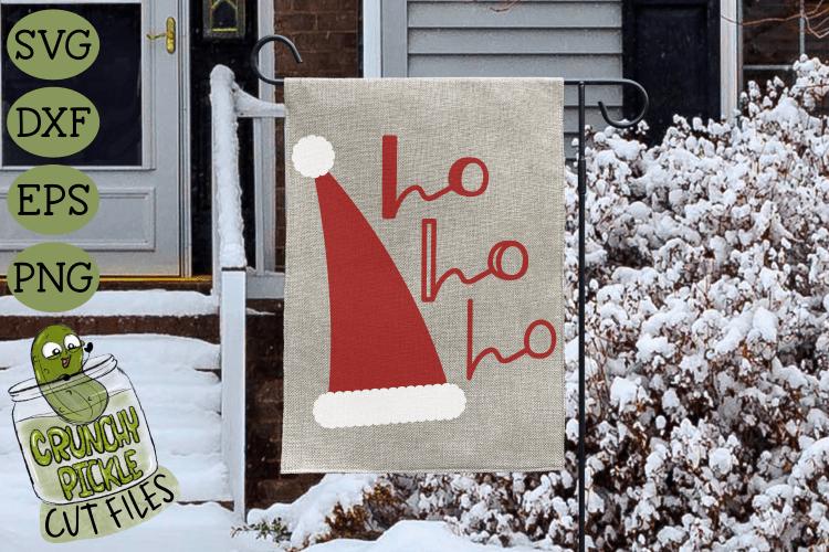 Santa Claus Ho Ho Ho Hat Christmas SVG File