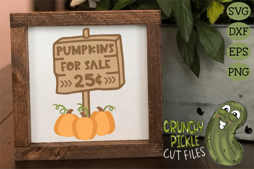 Pumpkins For Sale - Pumpkin Patch Sign SVG Cut File